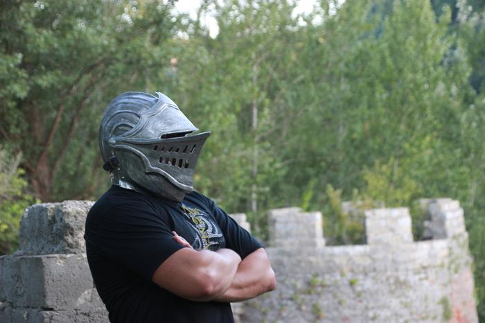 Шлем элитного рыцаря из игры Dark Souls своими руками. R-Craft