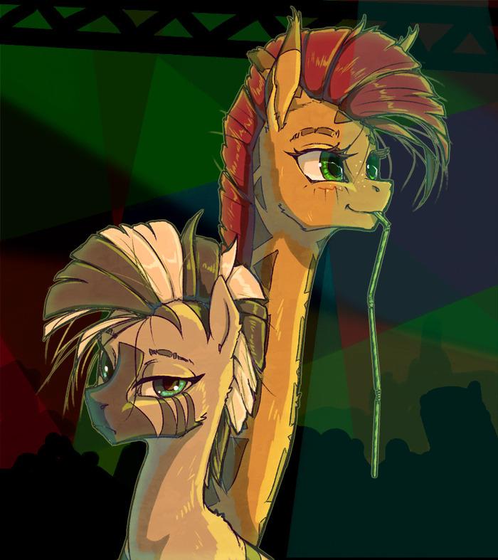 """""""И-и-и... мы её потеряли"""". Madhotaru, My Little Pony, Zecora, Twiggy, Жираф"""