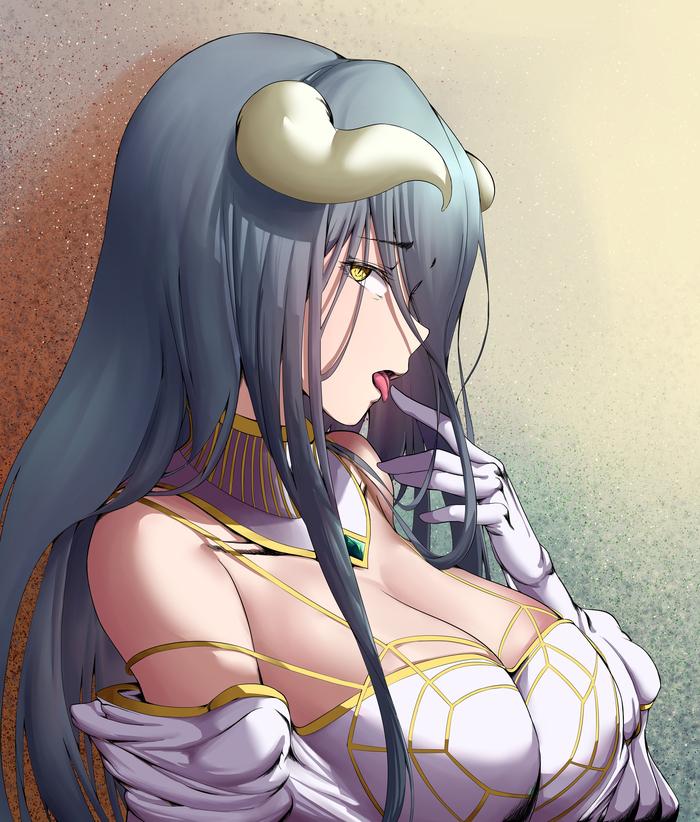 Albedo Аниме, Anime Art, Overlord, Albedo