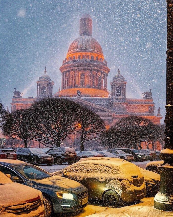 Питер. Исаакиевский собор Исаакиевский собор, Санкт-Петербург, Зима, Снег