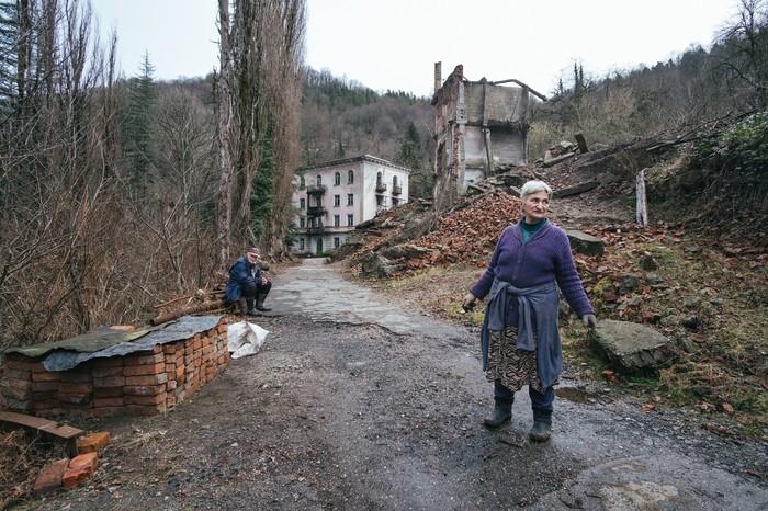 Умирающий город Город, Заброшенное, Абхазия, Из сети, Длиннопост