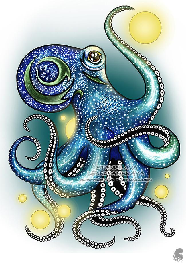 Сборник моих осьминогов [Part 1] Осьминог, Эскиз, Арт, Иллюстрации, Творчество, Картинки, Рисунок, Длиннопост