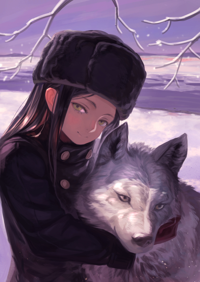Hugs with wolf