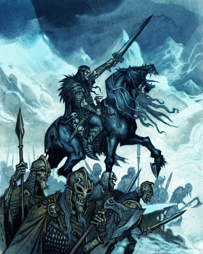 Боги Асгарда, Рагнарёк и не только Скандинавская мифология, Арт, Рисунок, Локи, Johan Egerkrans, Длиннопост