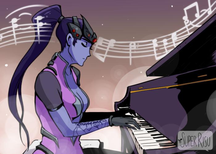 Пианино Комиксы, Superrisu, Overwatch, Widowmaker, Pharah, Длиннопост