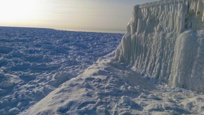 Когда арктические холода отступили.Штат Мичиган Морозы в США, Америка, Арктический холод, Мичиган, Мороз, Видео, Длиннопост