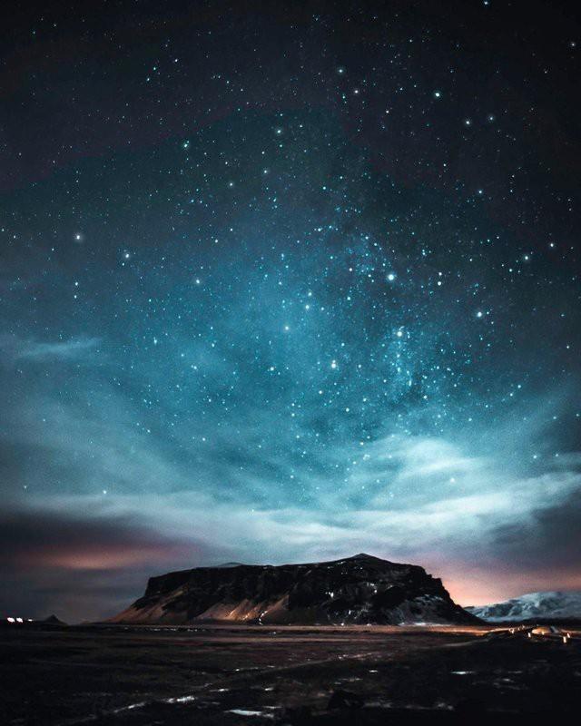 Ночь в Исландии