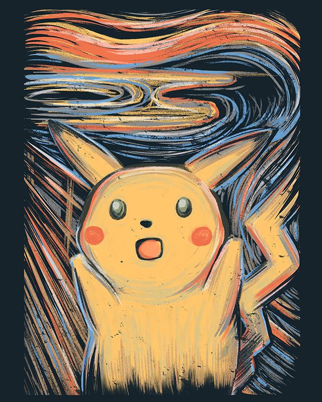Pikachu In Painting Покемоны, Пикачу, Арт, Рисунок, Мемы, Reddit, Крик, Эдвард Мунк