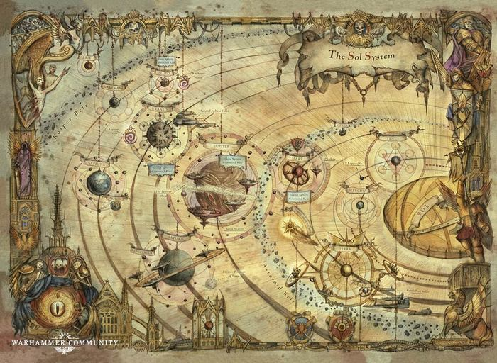 Sol system Warhammer 40k, Wh Art, Horus Heresy, Imperium, Арт, Рисунок