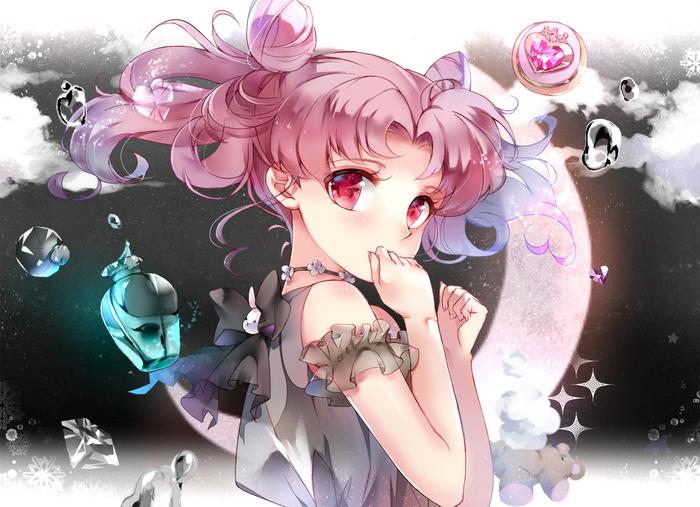 Anime Art №1600 Аниме, Anime Art, Sailor Moon, Chibi Usa