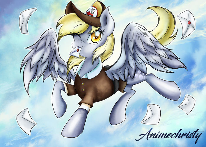 Mail Mare Derpy My Little Pony, Ponyart, Derpy Hooves, Animechristy