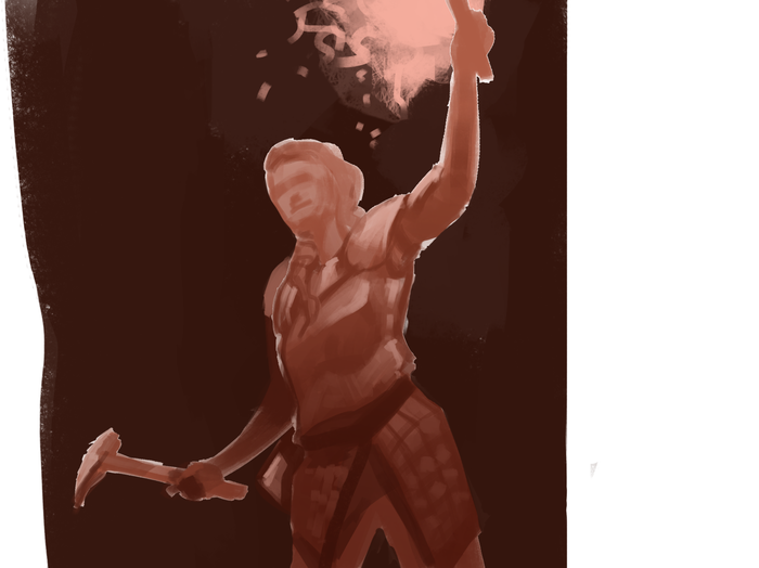 Процесс отрисовки персонажа на заказ №3 Арт, Эльфийка, Эльфы, Dungeons & Dragons, Цифровой рисунок, Длиннопост, Рисунок, 2d, Фэнтези