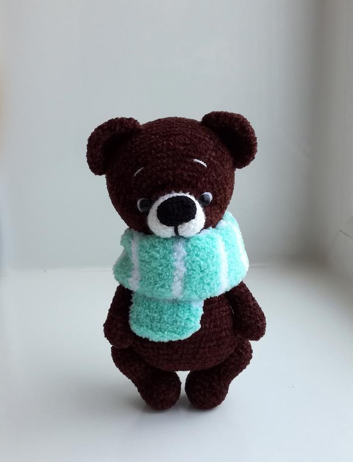 Вязаный Медведь Вязание, Рукоделие без процесса, Амигуруми, Рукоделие, Вязаные игрушки, Медведь, Длиннопост