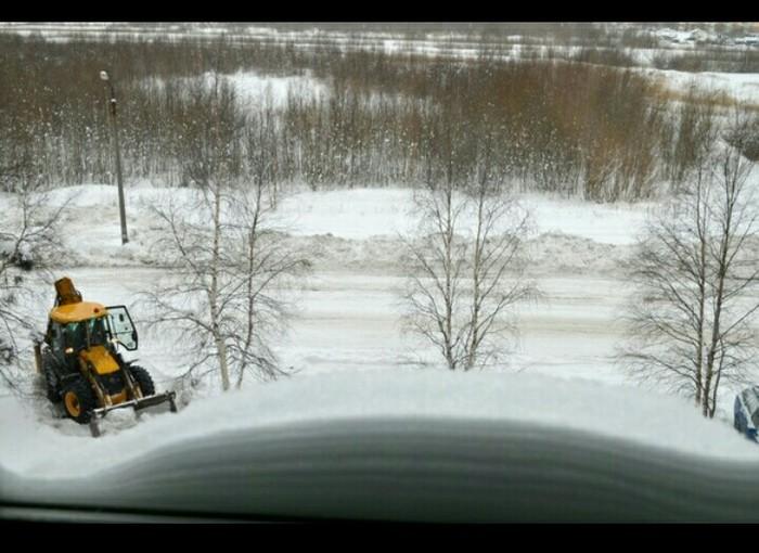 Сугроб на окошке Фотография, Зима, Сугроб, Снег, Спецтехника, Длиннопост