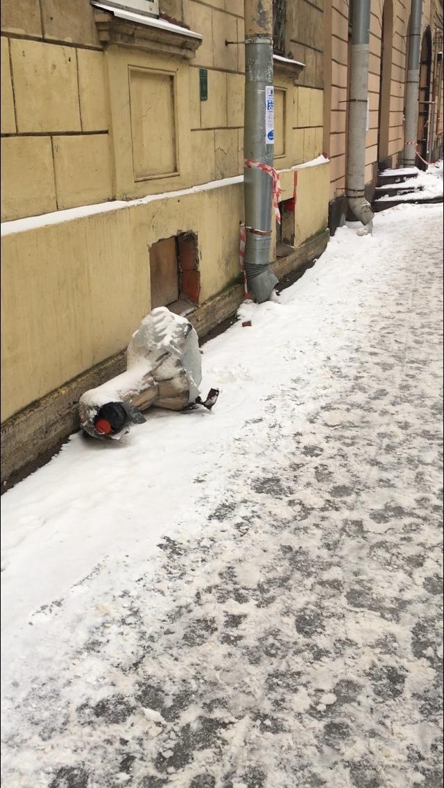 Упало с крыши Лёд, Ледяная глыба, Санкт-Петербург, Коммунальщики, Уборка снега, Длиннопост