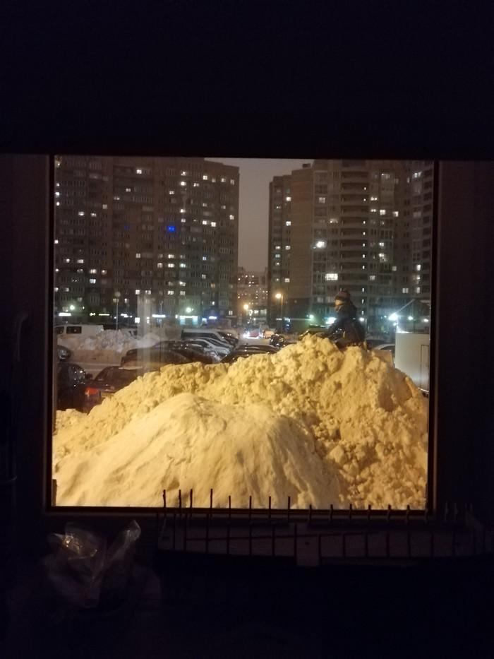 Я всегда мечтал о домике в горах Санкт-Петербург, Уборка снега, Снег, Длиннопост