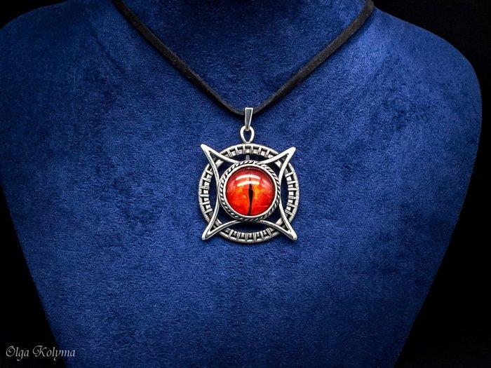 Орден Дракона III степени Украшения ручной работы, Wire wrap, Лэмпворк, Рукоделие без процесса, Кулон, Глаз Дракона, Видео, Длиннопост