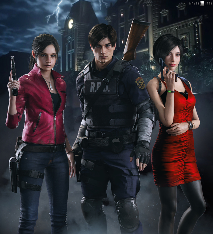 Claire Redfield, Leon Kennedy & Ada Wong