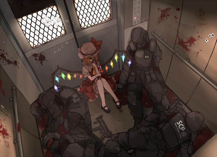 SCP- Девочка из Генсокё Scp, Touhou, Anime Art, Flandre Scarlet, Xiao qiang