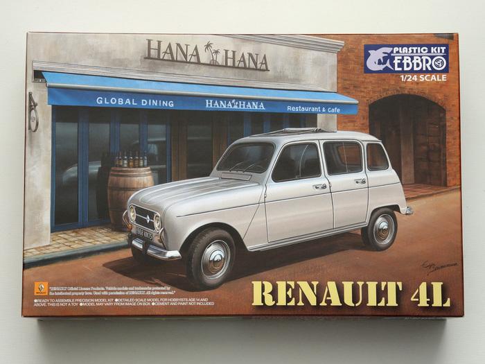 Renault 4L - 1/24 - Сборка в картинках Рено, Стендовый моделизм, Масштабная модель, Масштаб 24, Длиннопост