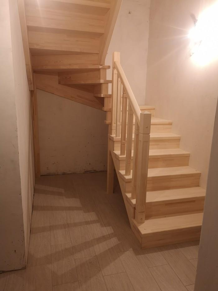 Лестница за три дня из сосны