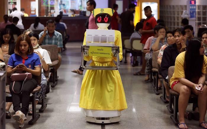 Роботы среди нас Робот, Медицина, Медсестры, Азия