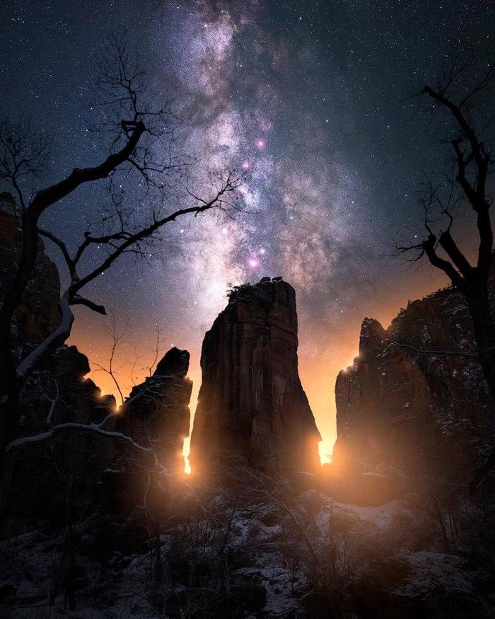 Скалы Фотография, Красивый вид, Горы, Скалы, Звездное небо, Природа, Chris Terstegge