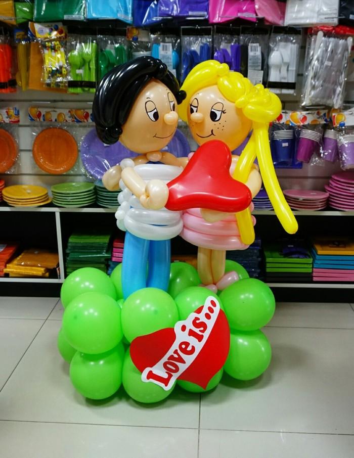 Love is... Love is, Фигуры из шаров, 14 февраля, Видео, Длиннопост, Вертикальное видео