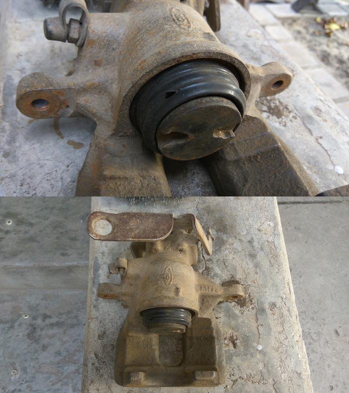 Переборка задних тормозных суппортов Ford Transit 2006-2012. Односкатные задние колеса. Ford Transit, Своими руками, Ремонт, Длиннопост, Фотография, Видео