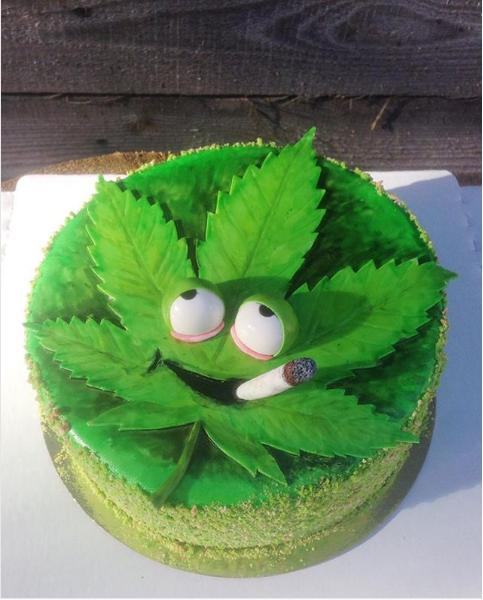 Торты в виде конопли марихуану вывести