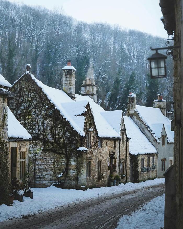 Castle Combe, Англия. Англия, Деревня, Улица, Фотография, Длиннопост