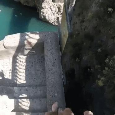 Прыжок в воду Гифка, Reddit, Прыжок, Мост, Slow motion