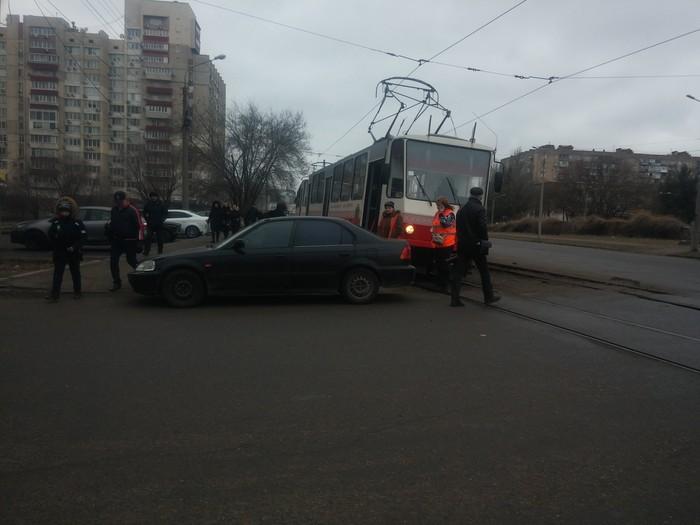 Мастера парковки Парковка, Трамвай, Автомобилисты, Украина, Запорожье