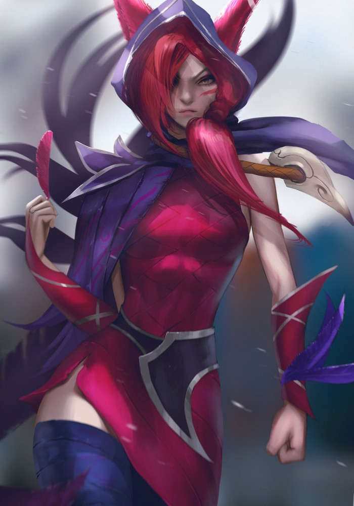 Xayah Art Арт, Tonymaverick, League of Legends, Xayah, Девушки