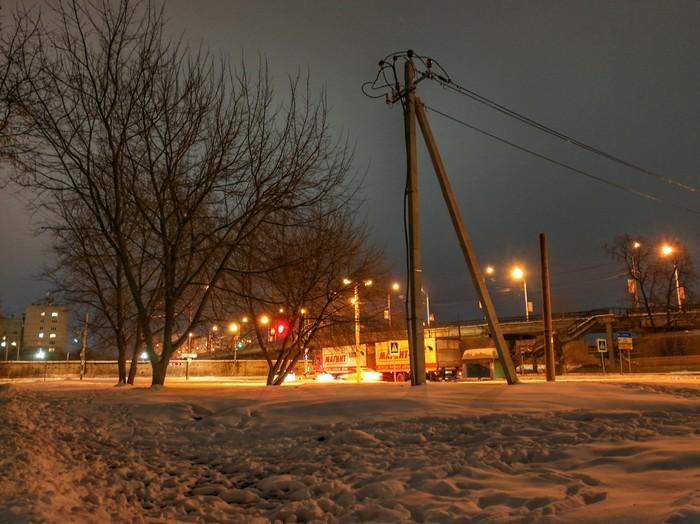 Ночной район Фотография, Мобильная фотография, Huawei mate 9, Дзержинск, Длиннопост, Ночь