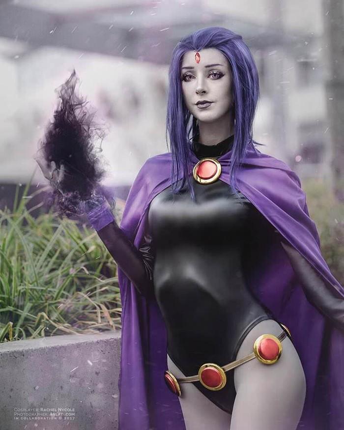 Raven by Rachel Nycole (Teen Titans) Косплей, Teen Titans, Красивая девушка, Ворон, Длиннопост