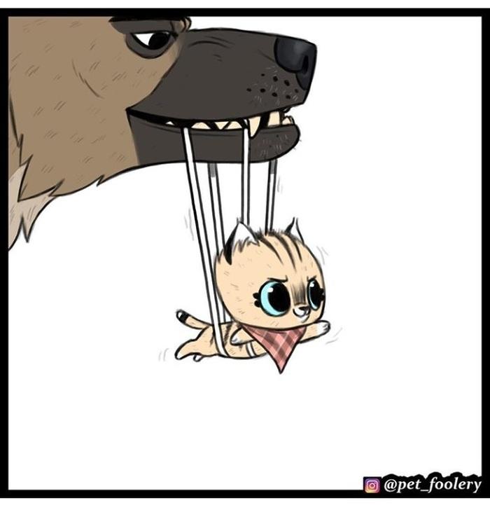 Супер-Пикси Pet Foolery, Брут и пикси, Длиннопост, Комиксы