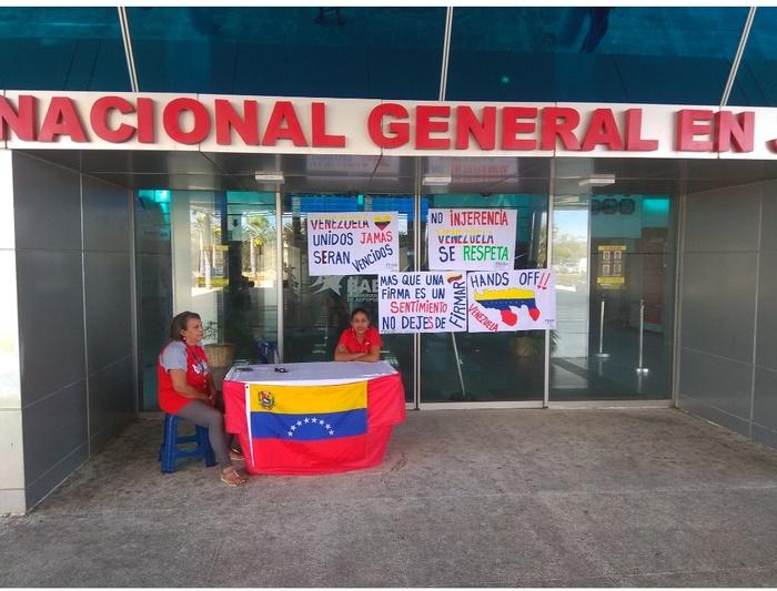 Сбор подписей против иностранного вторжения в Венесуэлу. Венесуэла, Аэропорт, Политика