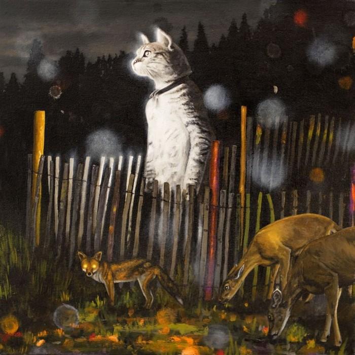 На страже Арт, Рисунок, Кот, Поп-Сюрреализм