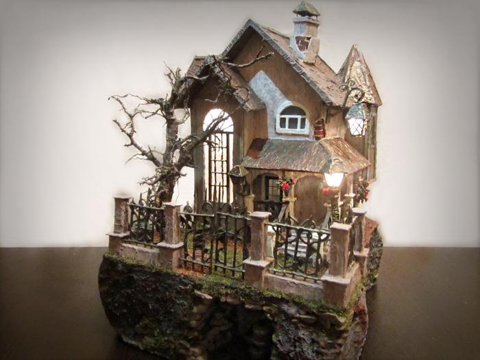 Gasthof (Постоялый двор) Миниатюра, Авторская работа, Handmade, Рукоделие без процесса, Длиннопост