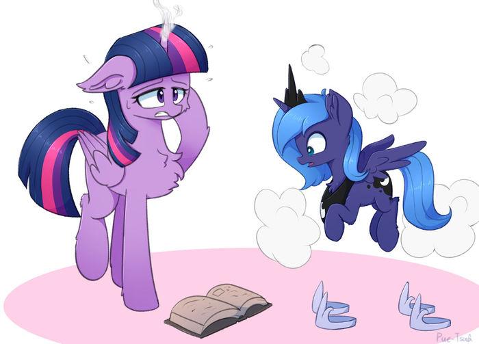 Ошибочка вышла... My Little Pony, Ponyart, Twilight Sparkle, Princess Luna, Puetsua