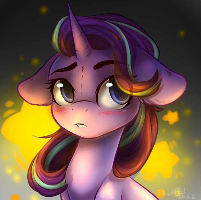 Понечка стесняется. My Little Pony, Ponyart, Starlight Glimmer, Falafeljake