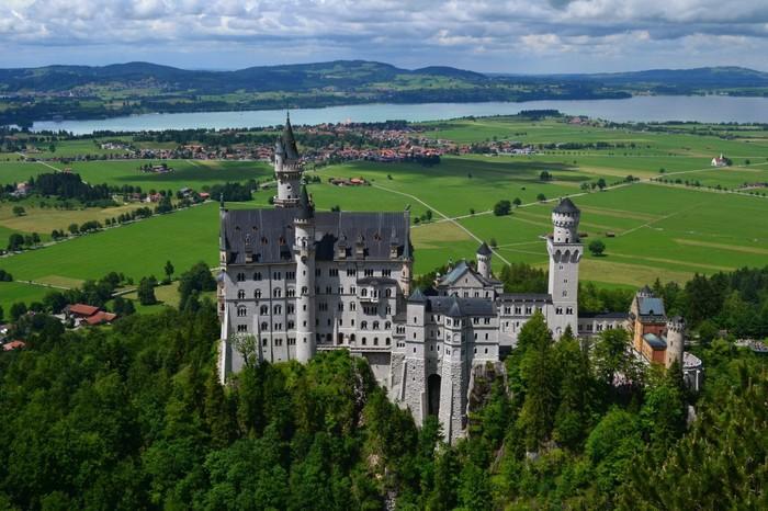 Замок Нойшванштайн Германия, Бавария, Замок, Нойшванштайн