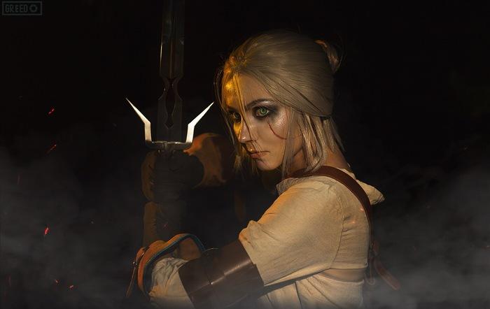 Cirilla Косплей, Русский косплей, Красивая девушка, Ведьмак, Ведьмак 3, Цири, Видеоигра, Greed, Длиннопост