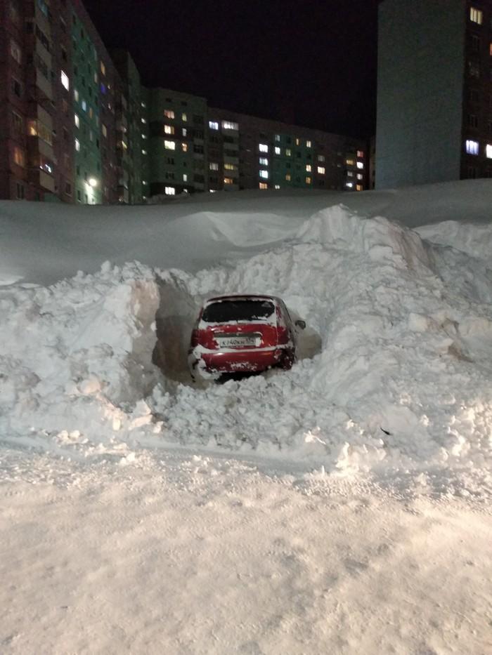 Процесс пошёл! Норильск, Авто, Снегопад, Длиннопост, Снег