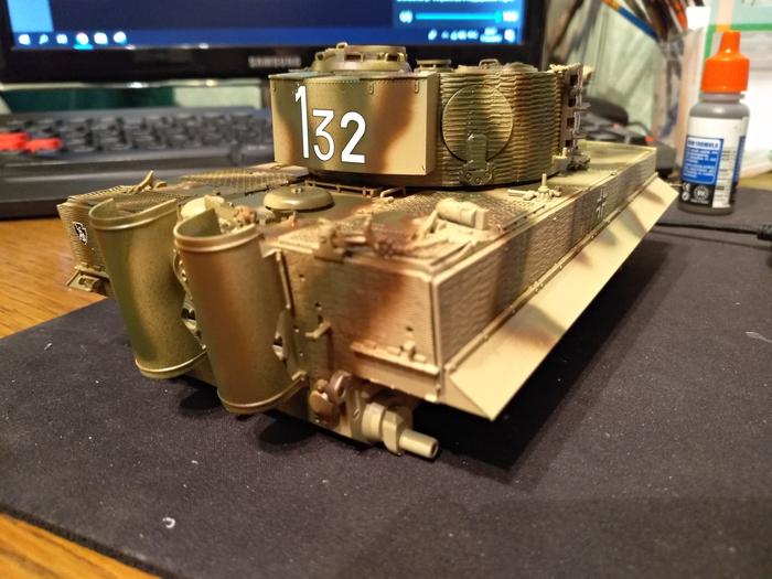 Продолжаю Тигр 6624 от Dragon и пантеру А от менг. Стендовый моделизм, Тигр, Пантера, Окраска, Модель, Сборка, Моделизм, Великая Отечественная война, Длиннопост