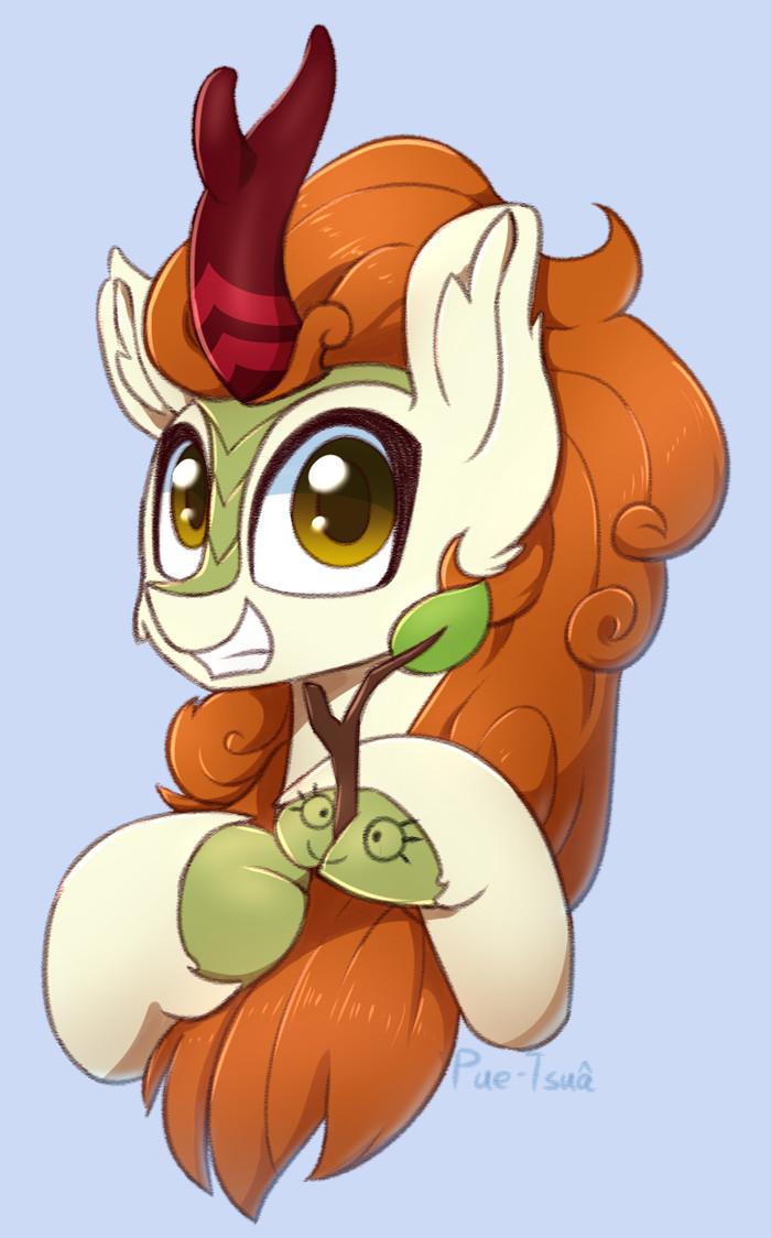 Няша-кириняша и её друг My Little Pony, MLP Kirin, Autumn Blaze, Ponyart, Puetsua