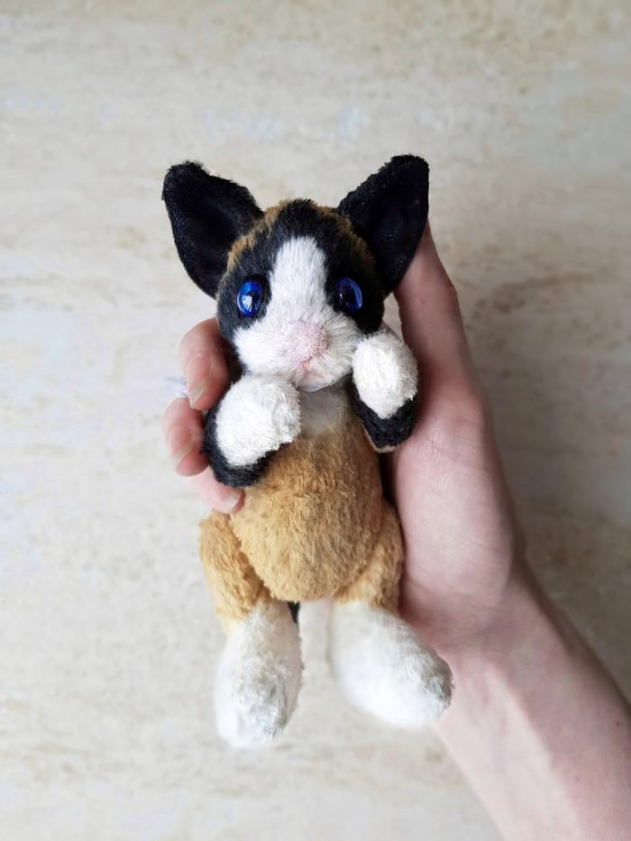 Котик в стиле тедди Игрушки, Рукоделие без процесса, Авторская игрушка, Кот, Тедди, Длиннопост