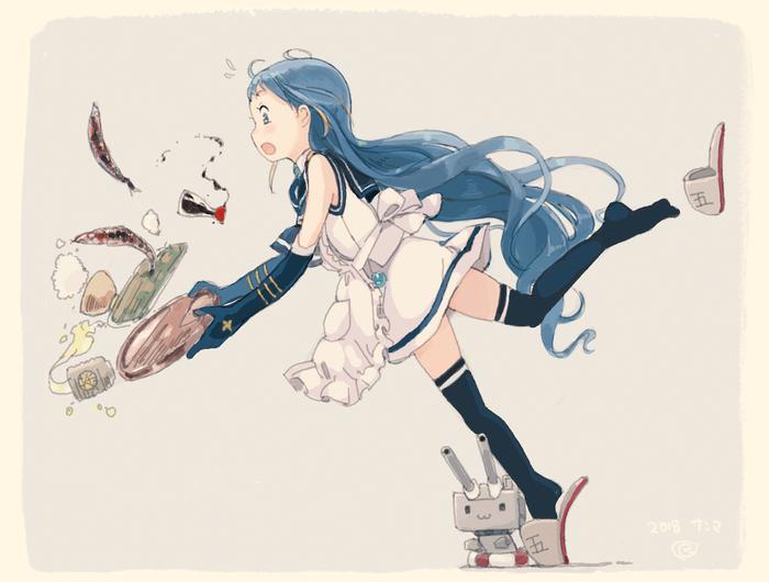Sami Anime Art, Аниме, Kantai Collection, Samidare, Rensouhou-Chan
