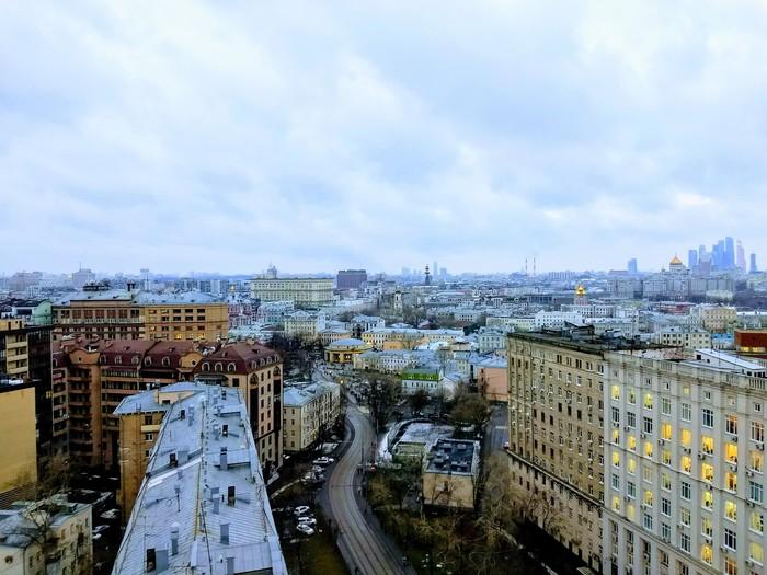 День VS Ночью Москва, День и ночь, Вид, Фото на тапок, Фото с крыши, Улицы Москвы